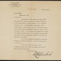 Letter signed by Luther Burbank to Mr. A. B. Swain
