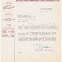 [signed letter from C.L. Dellums to N.W. Griffin]