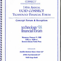 14th Annual UCSD CONNECT Technology Financial Forum: Concept Forum & Reception