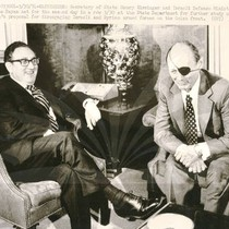 Henry Kissinger and Israeli Defense Minister Moshe Dayan