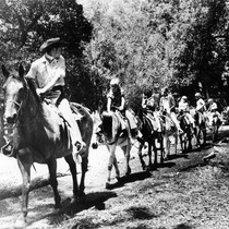 Burro Pack Train at Frontier Village