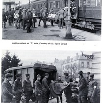 Loading and unloading patients during World War I
