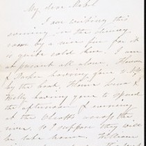 Arietta A. Kelly (née Hutton), letter, 1885 Oct. 5, to Mabel M. ...