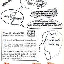 Third World and AIDS draft flyer