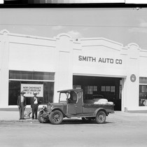 20 year old Chevrolet Truck in front of Smith Auto
