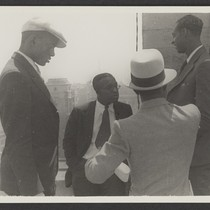 1932 U.S. Olympians Cornelius Johnson, Eddie Tolan, Eddie Gordon, and unidentified man