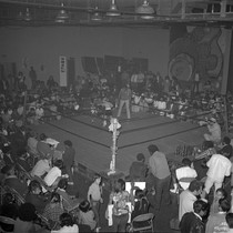 Boxing match with audience in the Arena