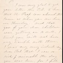 Arietta A. Kelly (née Hutton), letter, 1885 Jan. 10, to William or ...