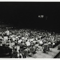 Los Angeles Philharmonic Orchestra in performance in Japan