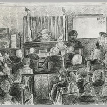Sirhan Trial 1969 Los Angeles - Overall view of court