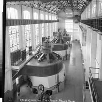 Generators in Pitt River Power House No. 3., Calif