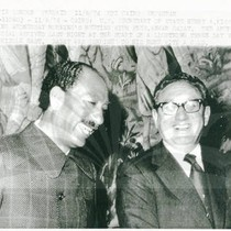 Henry Kissinger and President Anwar Sadat