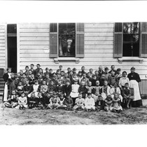 About seventy children and their teachers of the Pass School, Hollywood