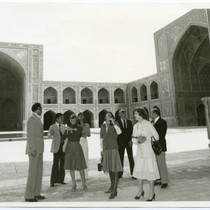 Touring the Shah Mosque in Iran, 1977