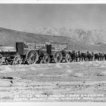 20 Mule Team Wagon Tain Entering Death Valley From Wingate Pass, Calif