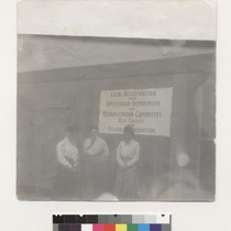 16th [i.e. Sixteenth] and Potrero. [Women outside of Red Cross facility. Sign ...