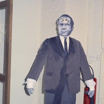 Effigy of Nixon at University Art Museum