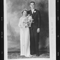 Alpha (Curry) and William Howard Martin wedding portrait