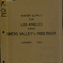 Additional water supply for City of Los Angeles in Owens Valley and ...