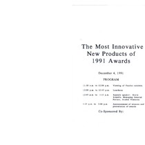 1991 Most Innovative New Products Awards: program