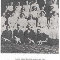 10. Sacred Heart Graduating Class of 1910. ELKINGTON Photo 10
