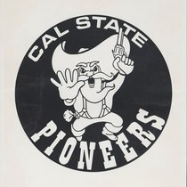 Cal State Pioneers mascot (forty-niner)