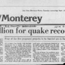 $10 million for quake recovery
