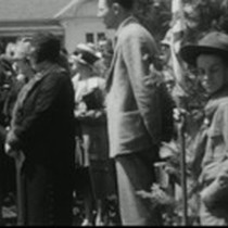 1929 Dedication of Mariposa County Courthouse monument and tour of Mariposa County ...