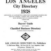 Los Angeles City Directory, 1938