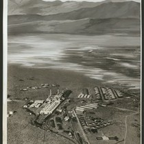 Aerial view of a potash chemical factory, September 1928
