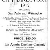 Los Angeles City Directory, 1915