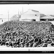 About 700 tons of scrap tire stock at a Pacific R & ...