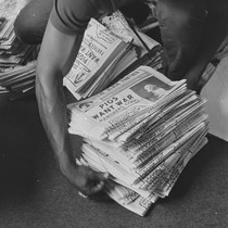 Getting the Black Panther newspaper ready for national distribution, Black Panther National ...