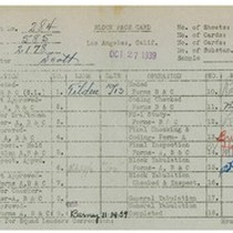 WPA bock face card for household census (block 2178) in Los Angeles ...