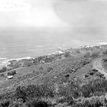 View of beach from Laguna Hills, Laguna Beach, California: Photograph