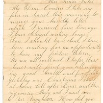 December 26, 1881 Letter Inks to Cousin