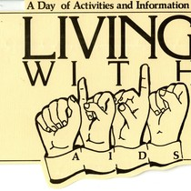 Living with AIDS clipping