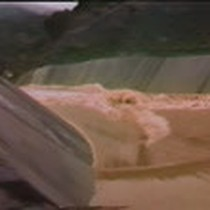 86 flood : Coyote spilling, flow into Anderson Reservoir, Upper Penitencia Creek, ...