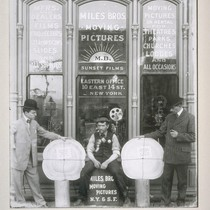 The Miles brothers: pictured in front of their motion picture exchange (Herbert, ...