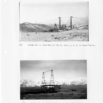 Dredge No. 1, Los Angeles Aqueduct in Owens Valley from face of, ...