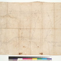 Manuscript map of Rancho San Joaquin