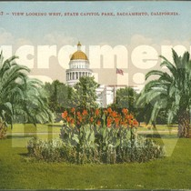 2137 - View Looking West, State Capitol Park, Sacramento, California