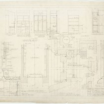 Clarke Residence, sections and details, San Francisco, 1937