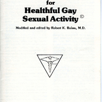 Guidelines and Recommendations for Healthful Gay Sexual Activities brochure