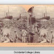 The Embarkation of Spanish Troops, Santiago Harbor, Cuba 1898 Keystone View Company