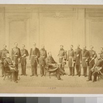 [Group portrait, unidentified military officers. Taber photo; John Koch, photographer. 1880.]