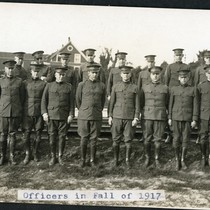 Officers in Fall of 1917