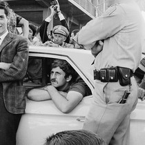 Jack Weinberg in police car