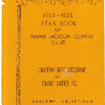 1952-1953 Year Book of the Fannie Jackson Coppin Club