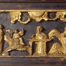 Altarpiece or Altar shrine - to hold religious figures for worship. Containes ...
